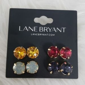 Lane Bryant 4 pairs of colorful earrings NEW